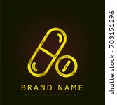 medicines golden metallic logo