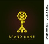 spotlight golden metallic logo