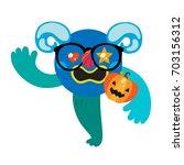 cartoon monster  vector... | Shutterstock .eps vector #703156312