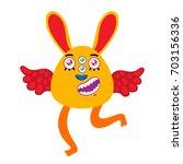 cartoon monster  vector... | Shutterstock .eps vector #703156336