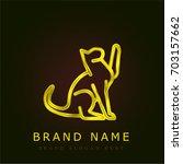 toyger cat golden metallic logo