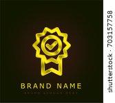 quality golden metallic logo