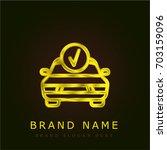 fix sign golden metallic logo