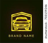 garage golden metallic logo