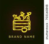 harvest golden metallic logo