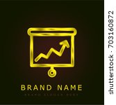 analyze golden metallic logo
