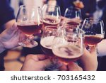 drinks and party | Shutterstock . vector #703165432