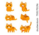 Vector Set Of Cute Orange Shor...