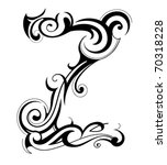 decorative letter shape. font... | Shutterstock .eps vector #70318228