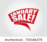 january sale labels banners | Shutterstock .eps vector #703186378