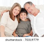 a little boy with his... | Shutterstock . vector #70319779