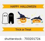 halloween vector collection set | Shutterstock .eps vector #703201726