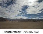rough mountain terrain in ladakh | Shutterstock . vector #703207762