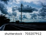 white cloud on the way   Shutterstock . vector #703207912