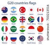 vector illustration of g 20... | Shutterstock .eps vector #703213516