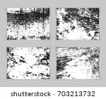 set of four old wall grunge... | Shutterstock .eps vector #703213732
