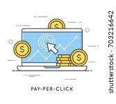 pay per click  internet... | Shutterstock .eps vector #703216642