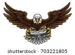 an eagle cartoon character... | Shutterstock . vector #703221805