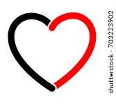 vector heart shape frame... | Shutterstock .eps vector #703223902