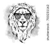 ethnic hand drawing head of... | Shutterstock .eps vector #703231162