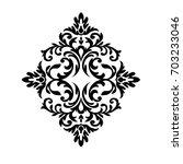 vintage baroque frame scroll... | Shutterstock .eps vector #703233046