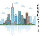 new york city skyline | Shutterstock .eps vector #703237276