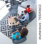 startup business people working ... | Shutterstock . vector #703243612