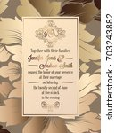 vintage baroque style wedding... | Shutterstock . vector #703243882