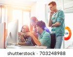 creative business colleagues... | Shutterstock . vector #703248988