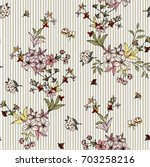 seamless floral pattern in... | Shutterstock .eps vector #703258216