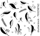 vector set art line  black and... | Shutterstock .eps vector #703258762