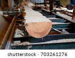 sawmill. process of machining... | Shutterstock . vector #703261276