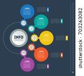 vector dynamic infographic of... | Shutterstock .eps vector #703263082