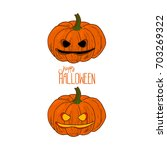 hand drawn sketch style scary... | Shutterstock .eps vector #703269322