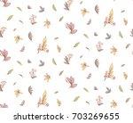 vector seamless pattern little... | Shutterstock .eps vector #703269655