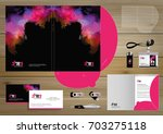 vector abstract colorful beauty ... | Shutterstock .eps vector #703275118