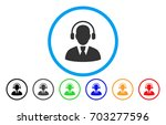 call center operator vector... | Shutterstock .eps vector #703277596