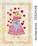 greeting card for valentine's... | Shutterstock . vector #70329148