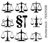 scale of justice | Shutterstock .eps vector #70329208
