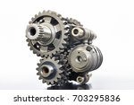 transmission of the motorcycle | Shutterstock . vector #703295836