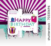 happy birthday colorful... | Shutterstock .eps vector #70330696