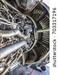 Small photo of Detailed exposure of a turbo jet engine