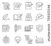 simple set of copywriting... | Shutterstock .eps vector #703325146