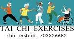 diverse group of senior... | Shutterstock .eps vector #703326682