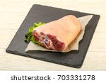 raw fat pork knee ready for... | Shutterstock . vector #703331278