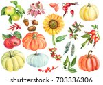 Painting Watercolor. Autumn Se...
