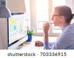 website development ui ux front ... | Shutterstock . vector #703336915