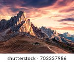 breathtaking morning view from...   Shutterstock . vector #703337986