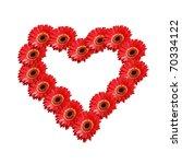 heart of many flowers - stock photo
