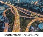 road traffic in city at... | Shutterstock . vector #703343692
